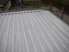 トタン屋根、遮熱塗装前